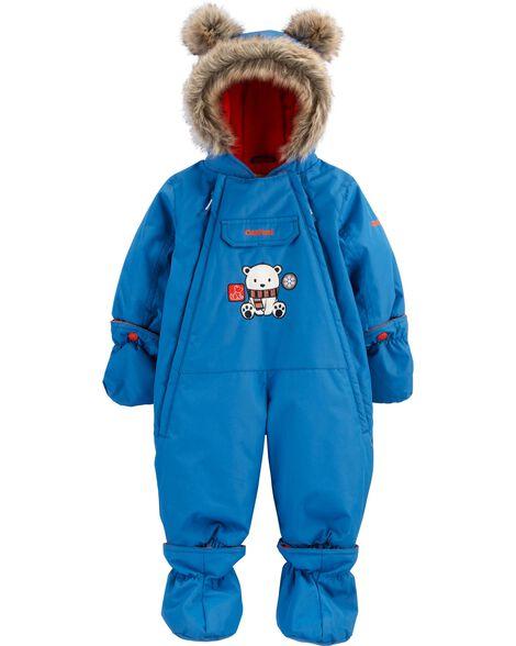 Habit de neige 1 pièce doublé de molleton pour bébé