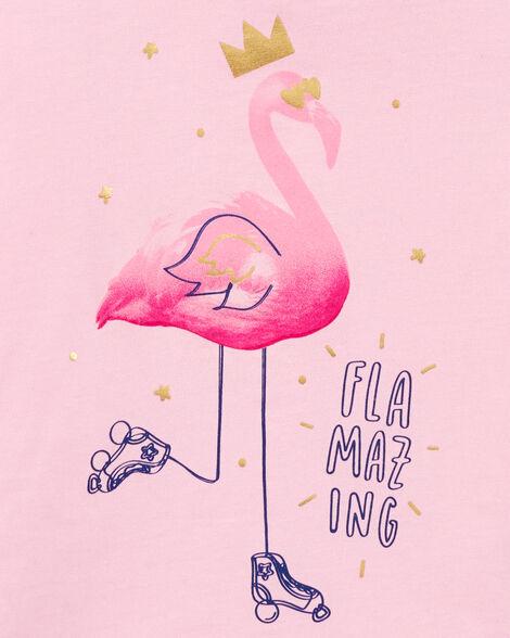 Flamingo Tie-Sleeve Tee