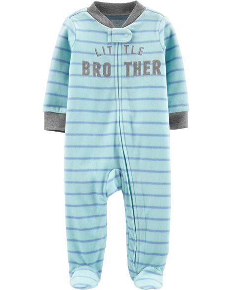 Little Brother Zip-Up Fleece Sleep & Play