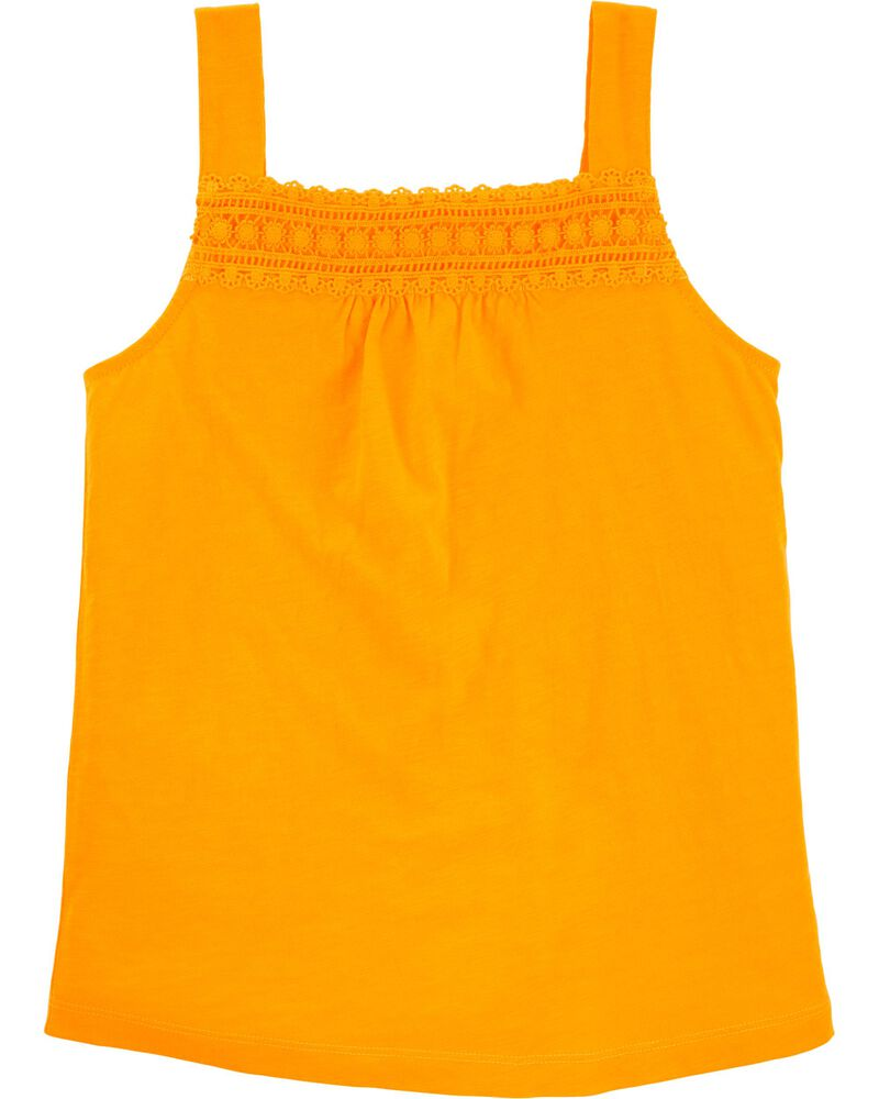 Crocheted Slub Jersey Tank, , hi-res