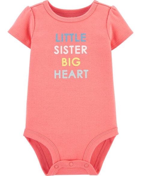 Little Sister Big Heart Bodysuit