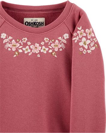 Floral Fleece Pullover