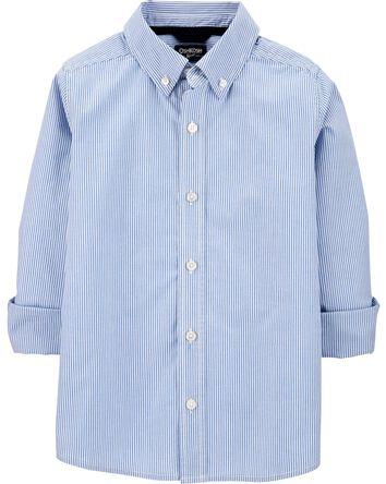 Striped Uniform Button-Front Shirt
