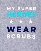 T-shirt My Super Heroes Wear Scrubs, , hi-res
