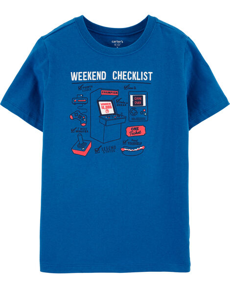 T-shirt en jersey Weekend Checklist