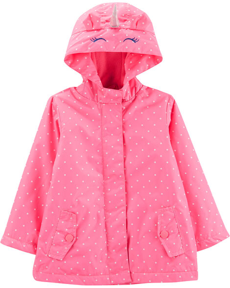 Fleece-Lined Unicorn Rain Jacket
