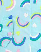 Rainbow Print Rain Jacket, , hi-res