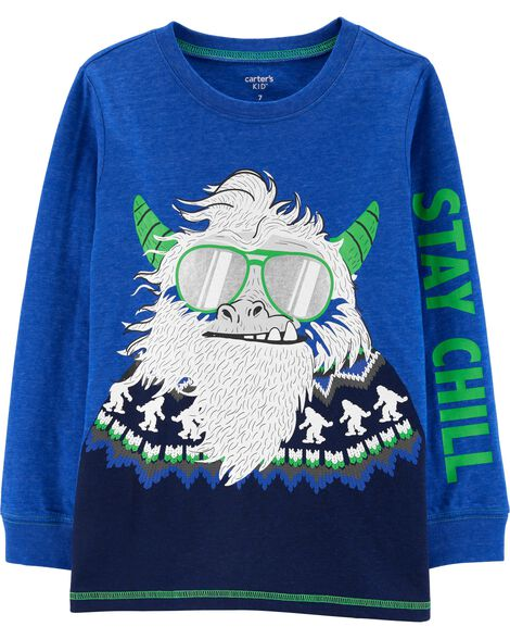 T-shirt en jersey chiné abominable homme des neiges