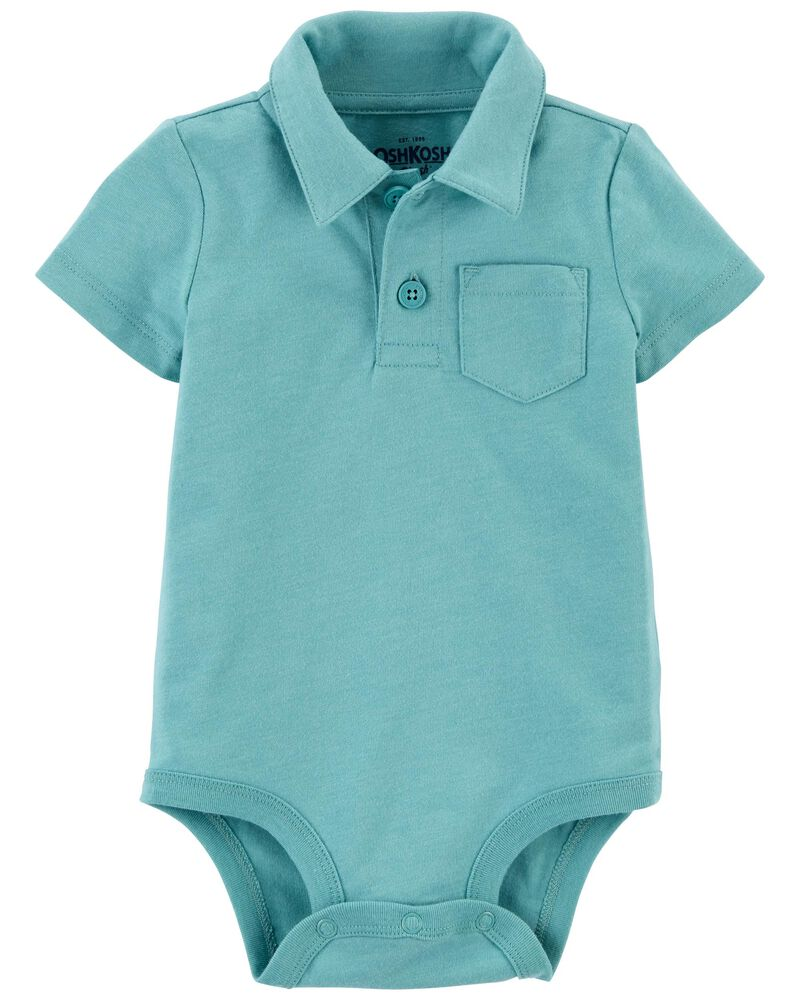 Pocket Polo Bodysuit, , hi-res