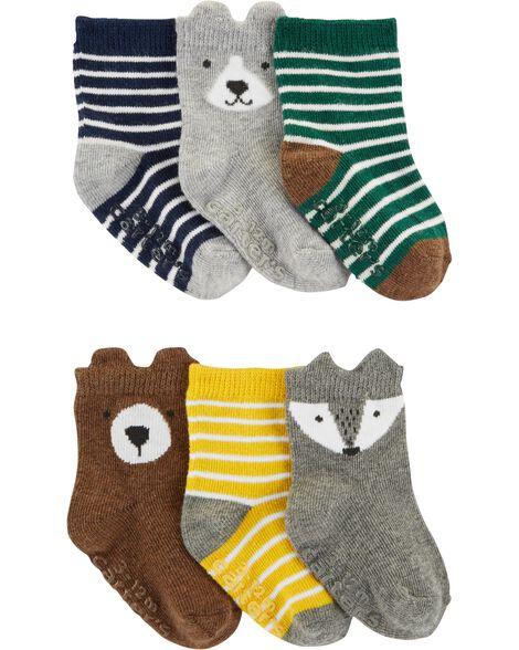 6 paires de chaussons