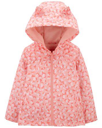 Leopard Fleece-Lined Jacket