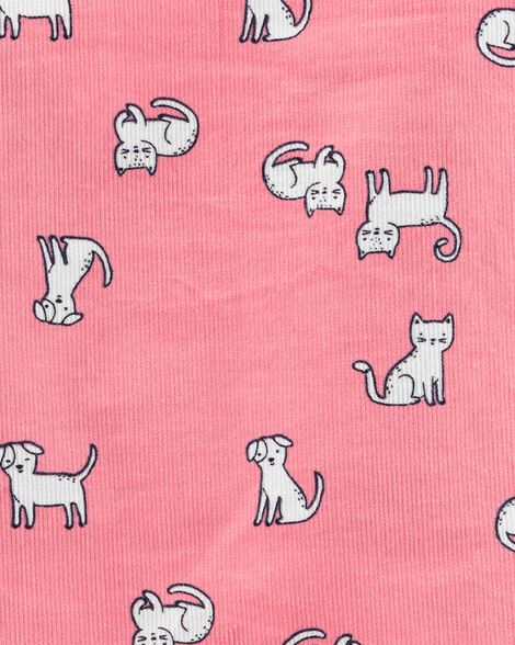 3-Piece Polka Dot Tee & Cat Jumper Set