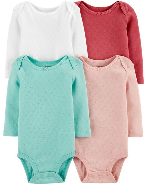 4-Pack Heart Original Bodysuits