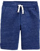 Marled Pull-On French Terry Shorts, , hi-res