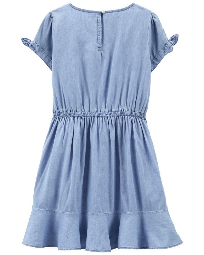 Ruffle Dress in Barcelona Wash, , hi-res