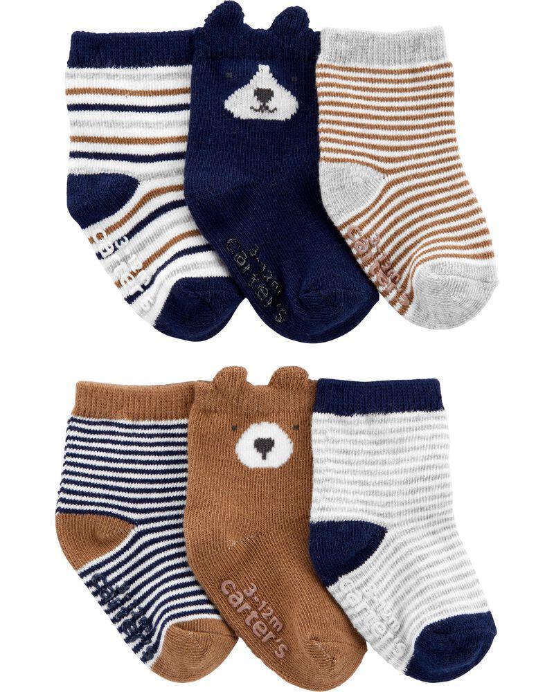 6 paires de chaussons pour bébé, , hi-res
