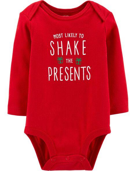 Shake The Presents Christmas Collectible Bodysuit