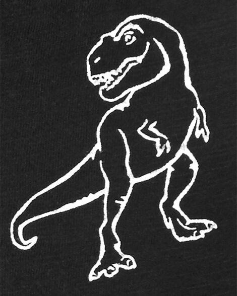 2-Piece Dinosaur Slub Jersey Henley & Canvas Short Set