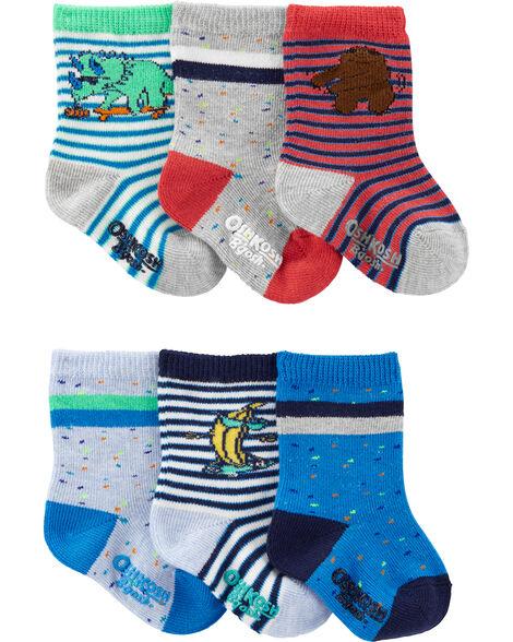 6-Pack Too Cool Crew Socks