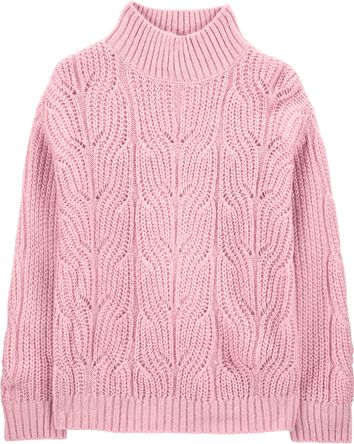 Sparkle Mock-Neck Sweater
