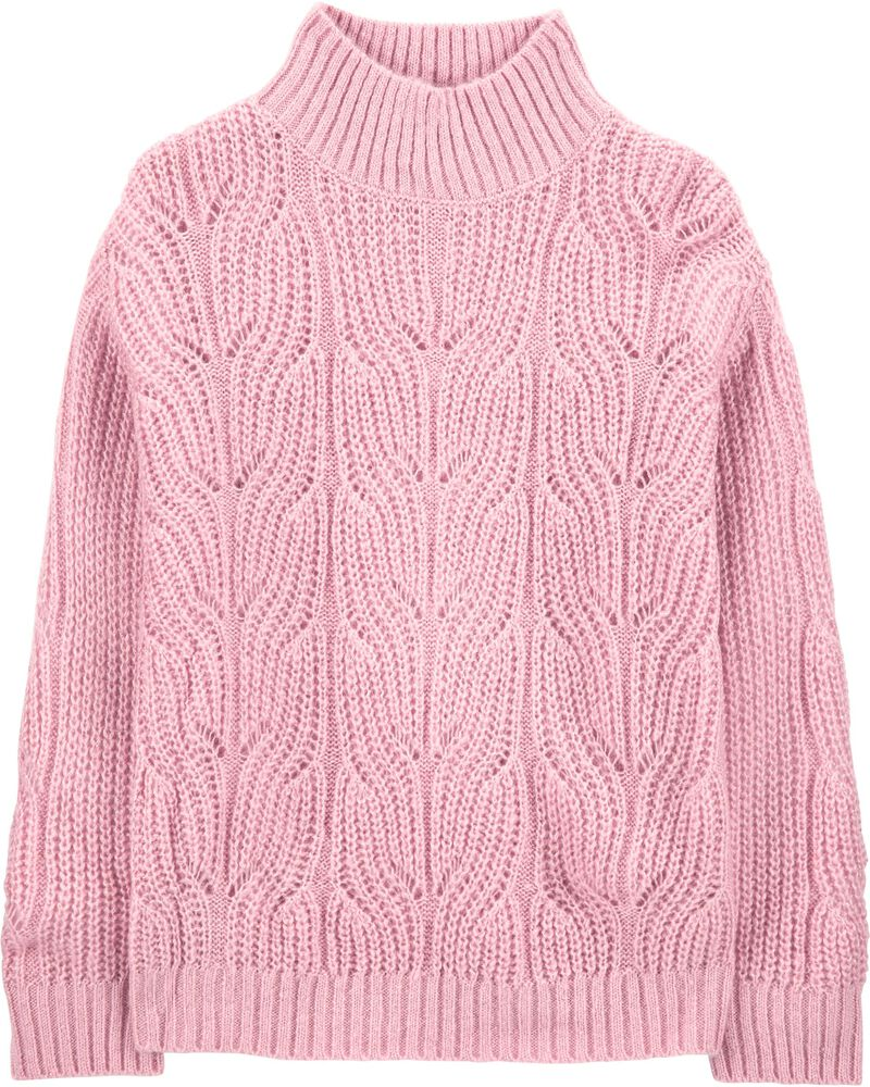 Sparkle Mock-Neck Sweater, , hi-res