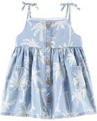 Chambray Palm Pocket Dress, , hi-res