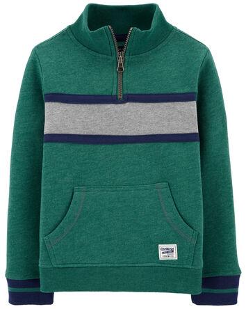 Mock Neck Fleece Pullover