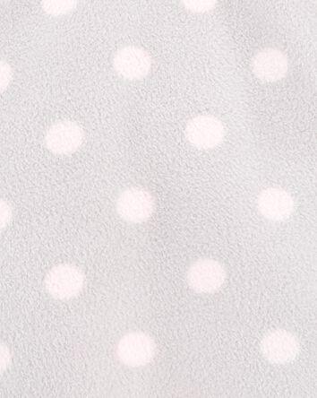 Half-Zip Sherpa Polka Dot Pullover