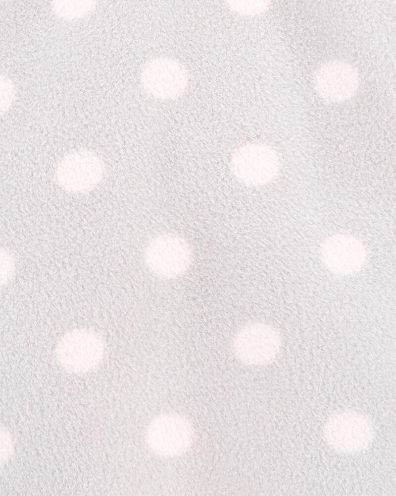 Half-Zip Sherpa Polka Dot Pullover, , hi-res