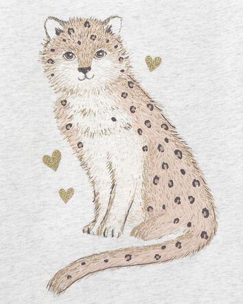 T-shirt en jersey motif léopard
