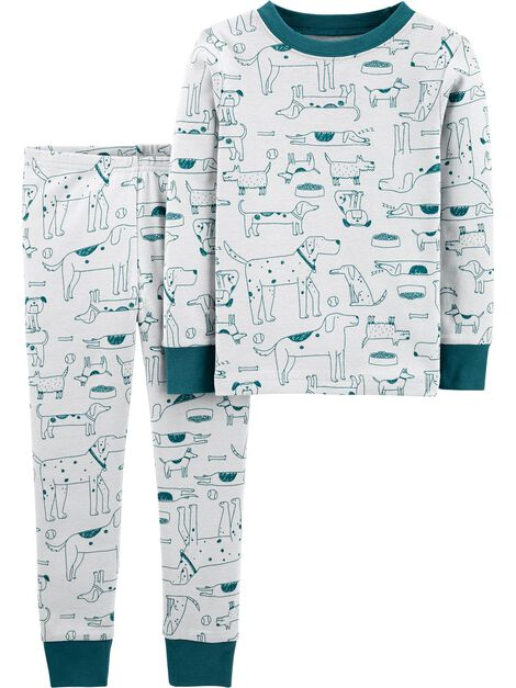 2-Piece Dog Snug Fit Cotton PJs