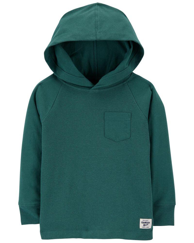 T-shirt à capuchon en jersey et tissu isotherme, , hi-res
