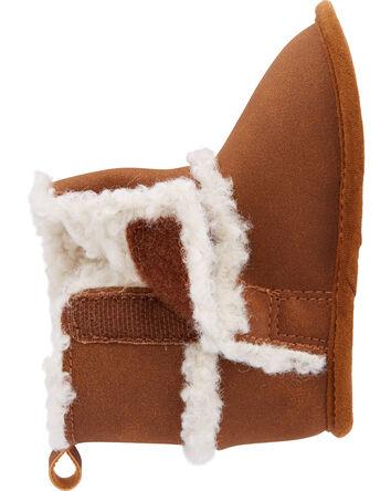 Faux-Fur Trim Boots