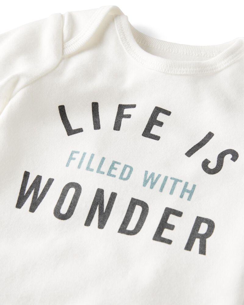 Emballage de 2 cache-couches en coton biologique Wonderful Life, , hi-res