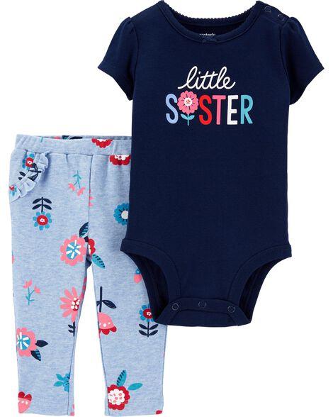 Ensemble 2 pièces cache-couche et pantalon Little Sister