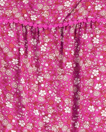 Barboteuse en popeline fleurie