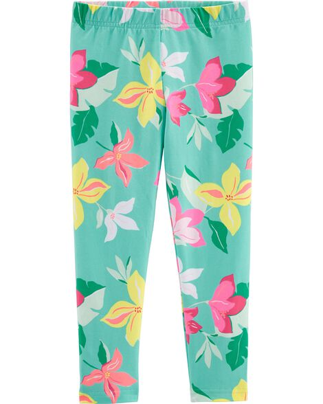 Tropical Floral Capri Leggings