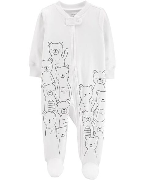 Bear Zip-Up Cotton Sleep & Play