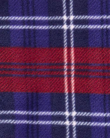 1-Piece Plaid Fleece PJs