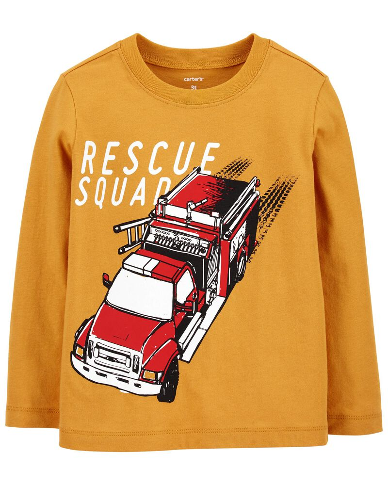 Firetruck Rescue Squad Jersey Tee, , hi-res