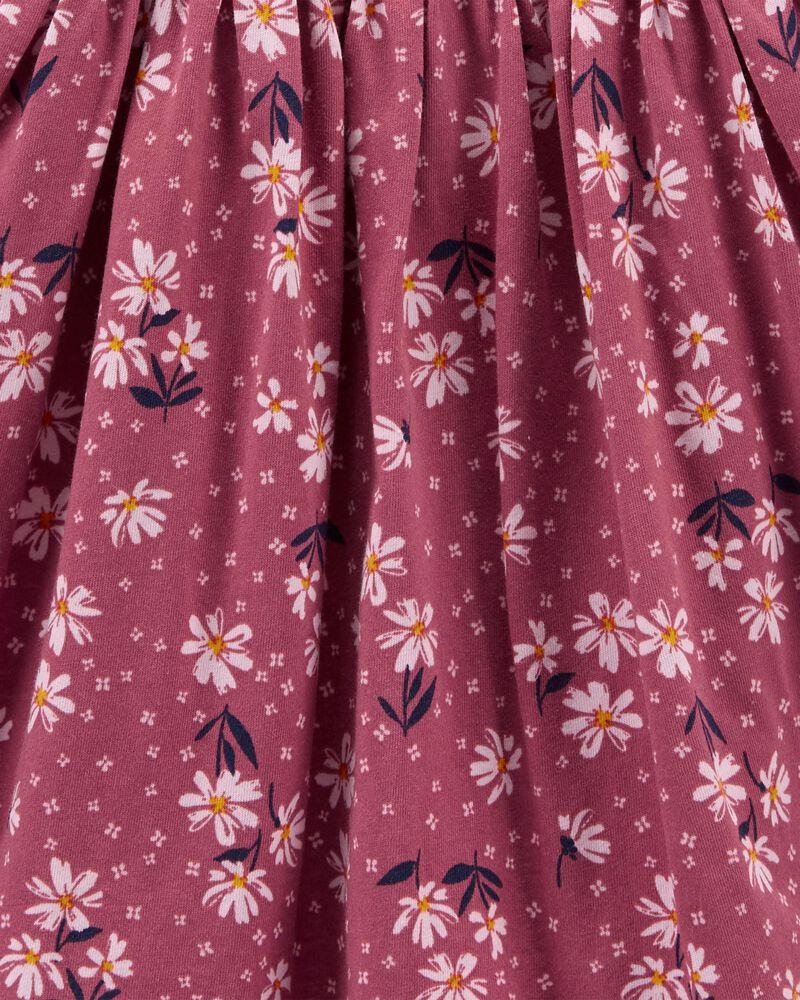 Robe en jersey fleurie, , hi-res