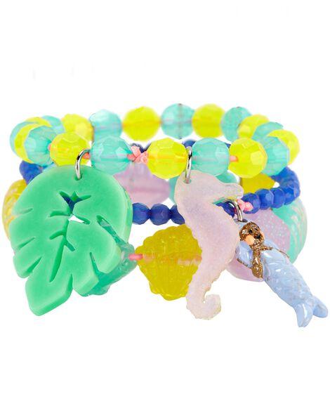 Paquet de 3 bracelets en coquillage