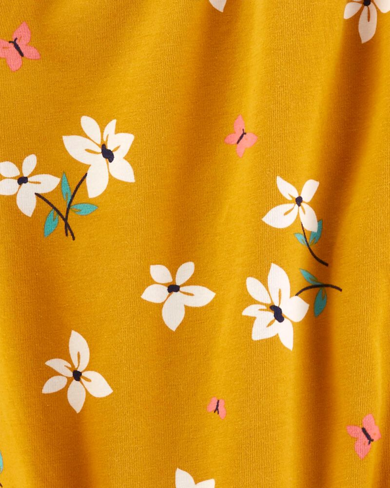 T-shirt en jersey fleuri et nœud devant, , hi-res