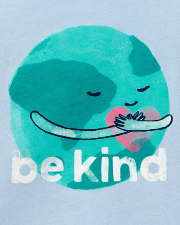 T-shirt en jersey Earth Be Kind