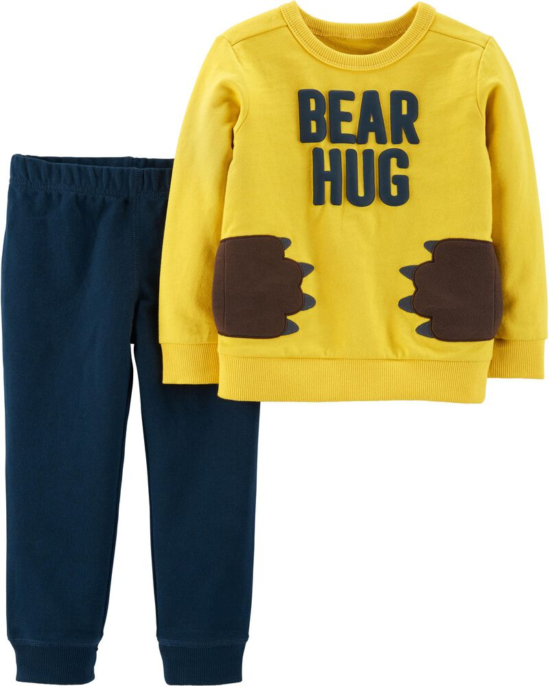 2-Piece Bear Hug Pullover & French Terry Jogger Set, , hi-res