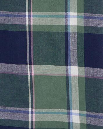 Chemise boutonnée àmotif écossais