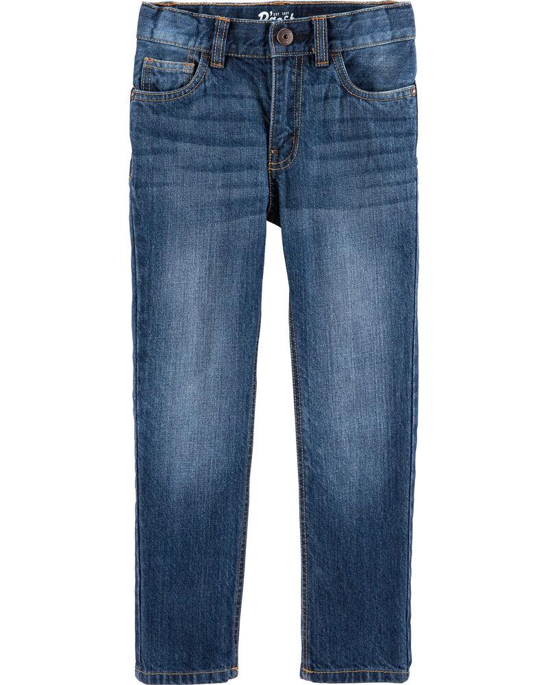 Jeans droit - délavage bleu ancre, , hi-res