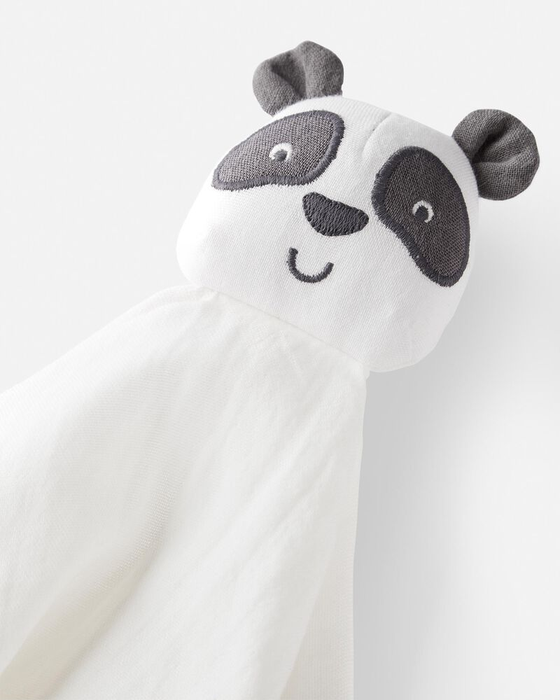 Organic Cotton Muslin Panda Lovie, , hi-res