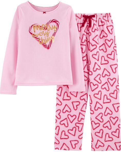 Pyjama 2 pièces avec cannes en bonbon