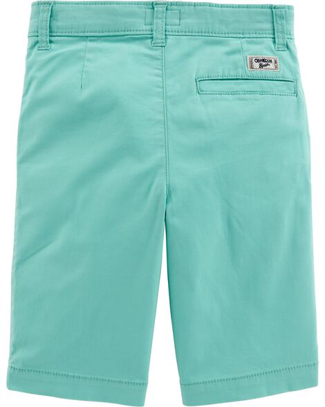 Stretch Flat Front Shorts